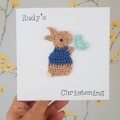 Personalised Handmade Bunny Christe..