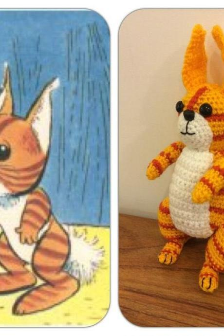 Tog Squirrel Crochet Toy from Pogles Wood TV Program, Made To Order, Tog Toy, Pogles Wood Gift, Squirrel Toy, 60s TV Toy