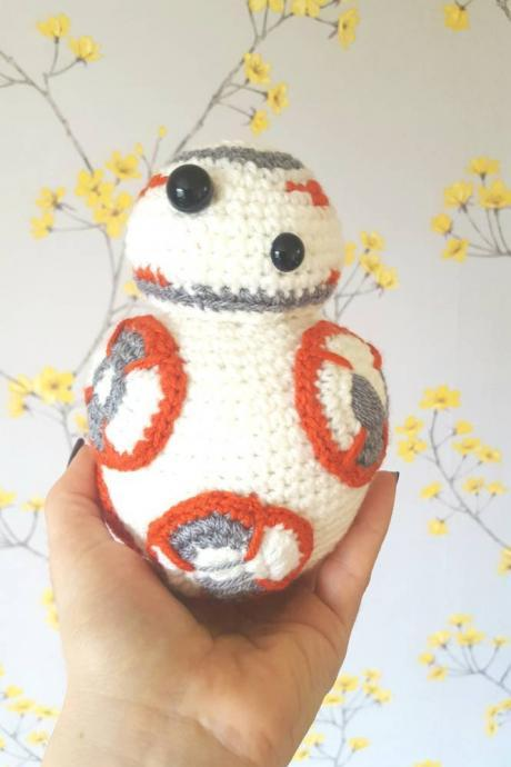Crochet Toy, BB-8 star wars handmade crochet mini figure, BB-8 plushie, BB-8 gift, star wars gifts, bb-8 doll, star wars amigumuri, Ready to ship Toys