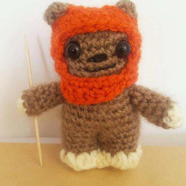 Ewok Star Wars Handmade Crochet Mini Figure, Crochet Toy, Star Wars Gifts, Ewok figure, Ewok Gift,
